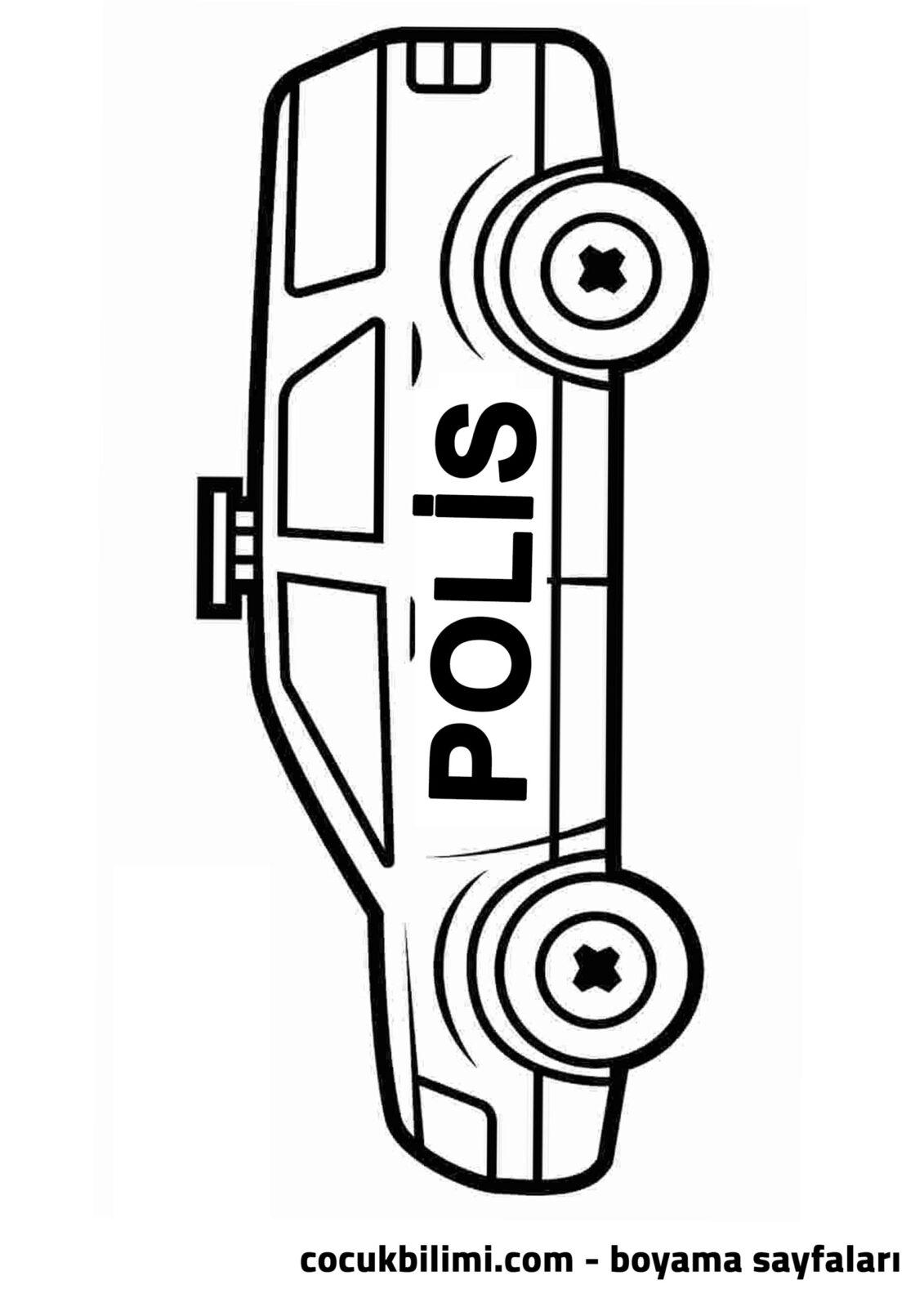 polis arabası boyama sayfası