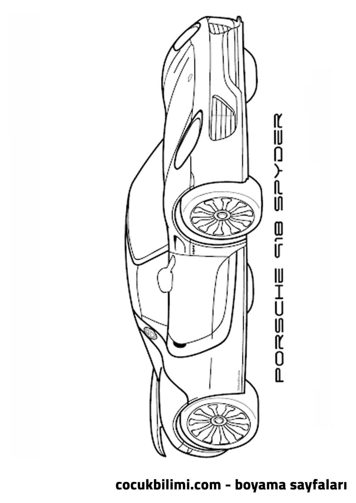 porsche spyder boyama sayfası