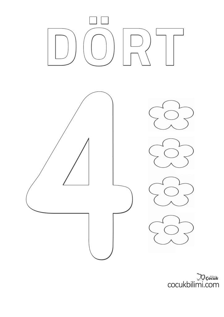 dört 4
