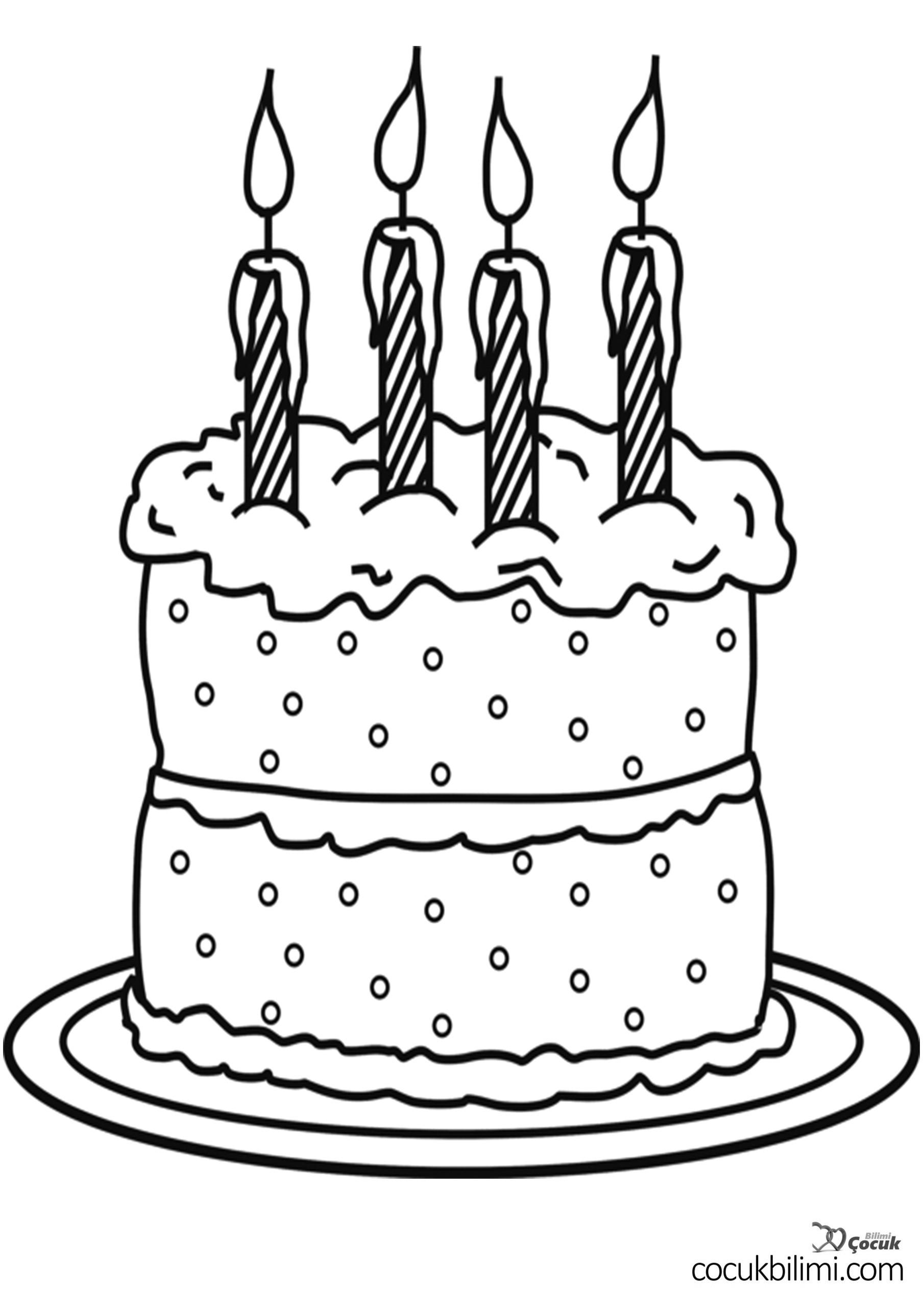 doğum günü-pastası-boyama-sayfasi