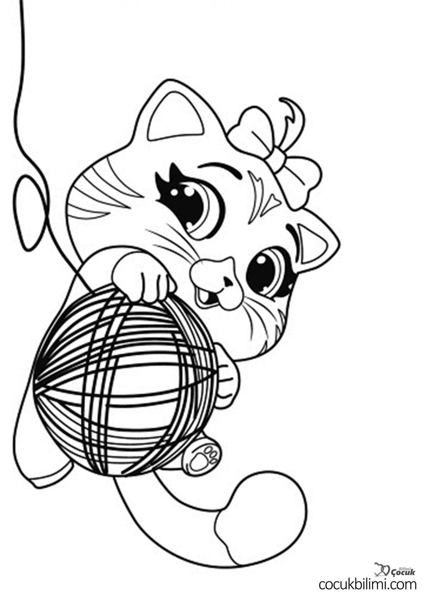kedi-ve-yumak-boyama