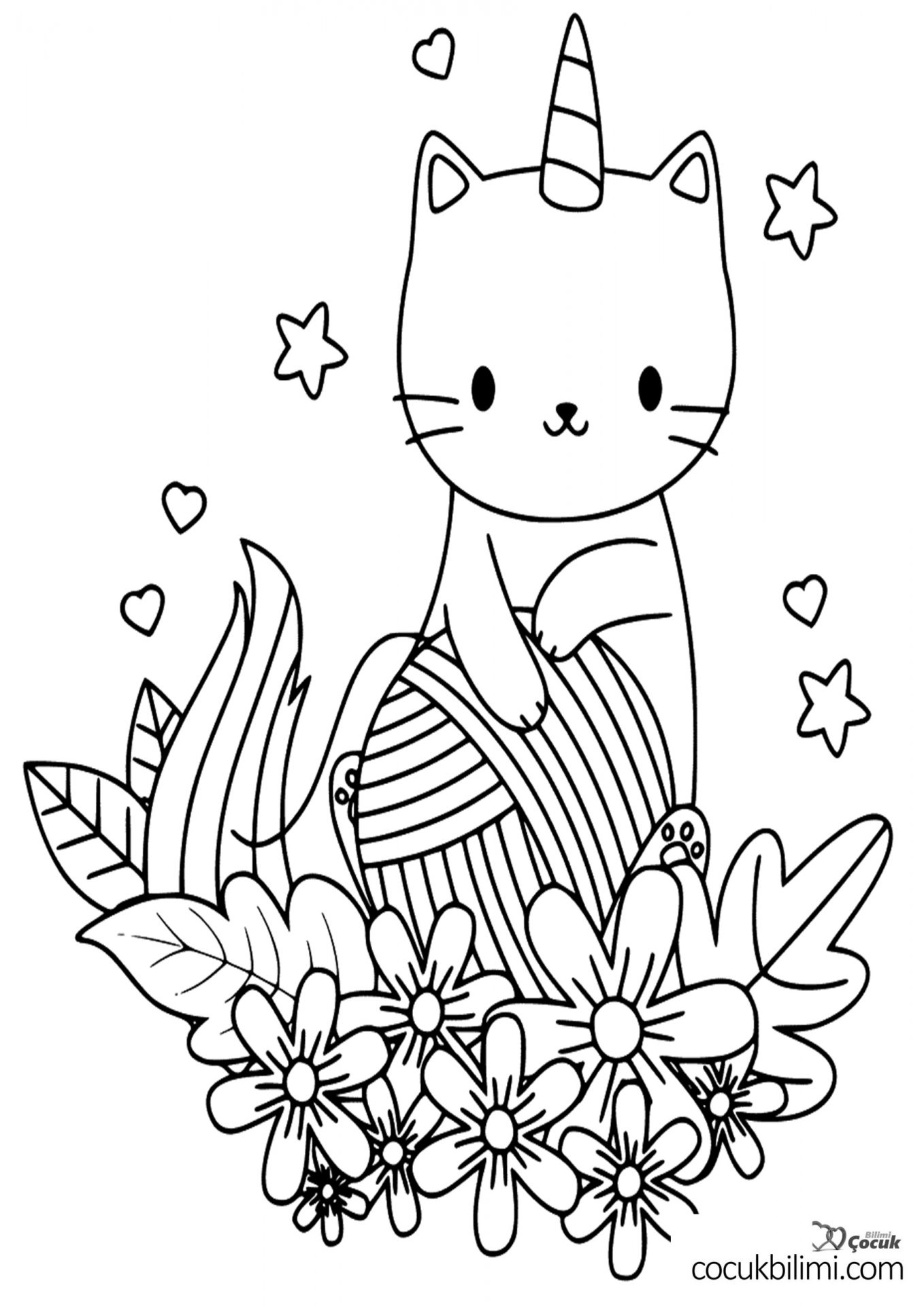 unicorn-kedi-boyama