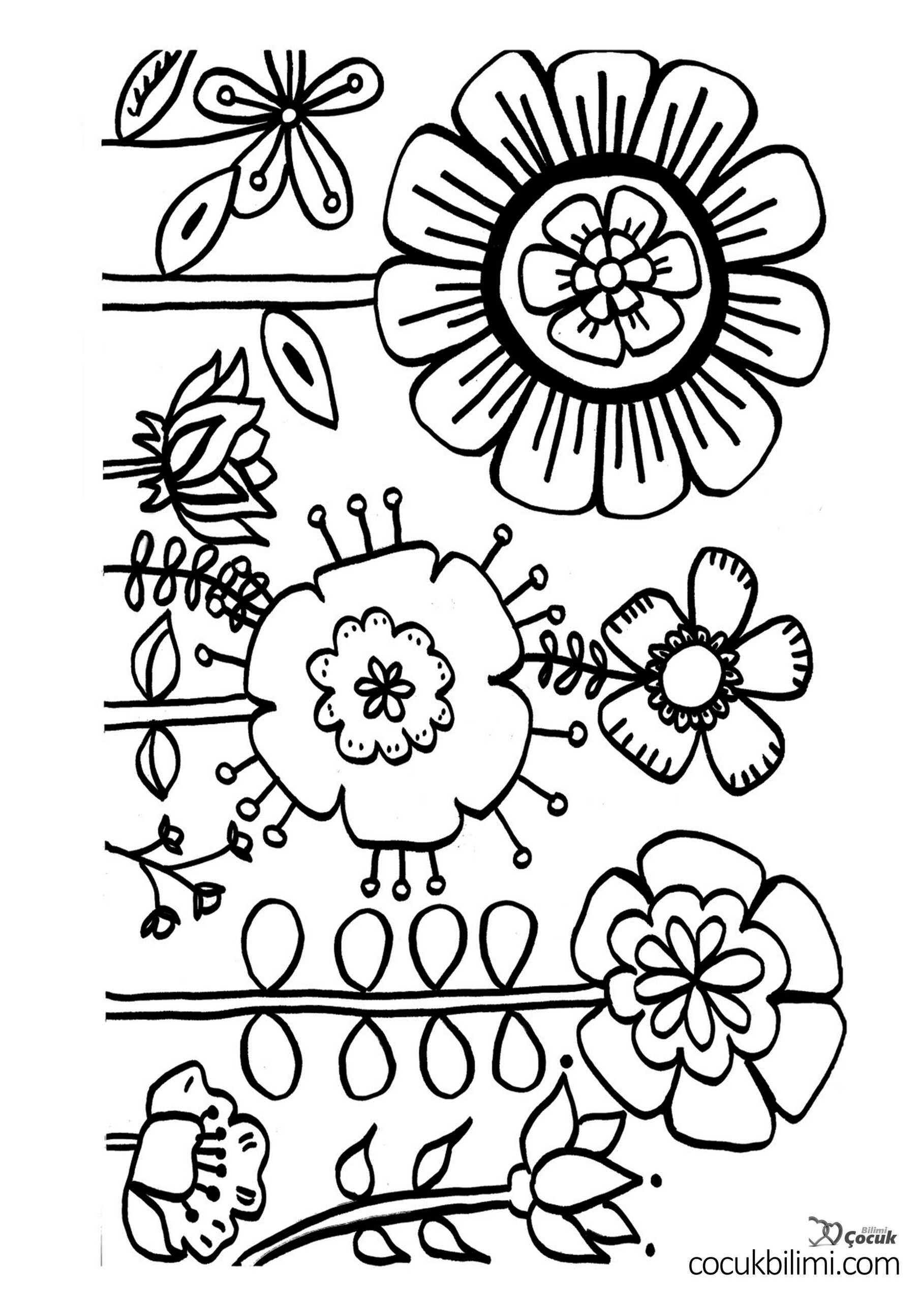 çiçek boyama